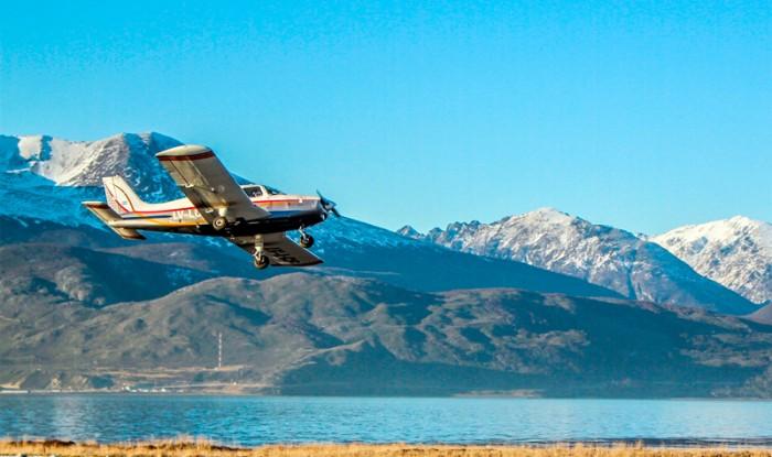 Sobrevoo turístico de avião com parada em Tolhuin - Ushuaia