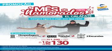 Promoção Pacote Terrestre El Calafate - Mês dos Namorados