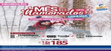Promoção Pacote Terrestre Ushuaia - Mês dos Namorados