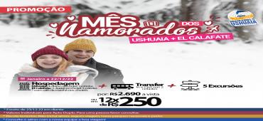 Promoção Pacote Terrestre Ushuaia + El Calafate - Mês dos Namorados