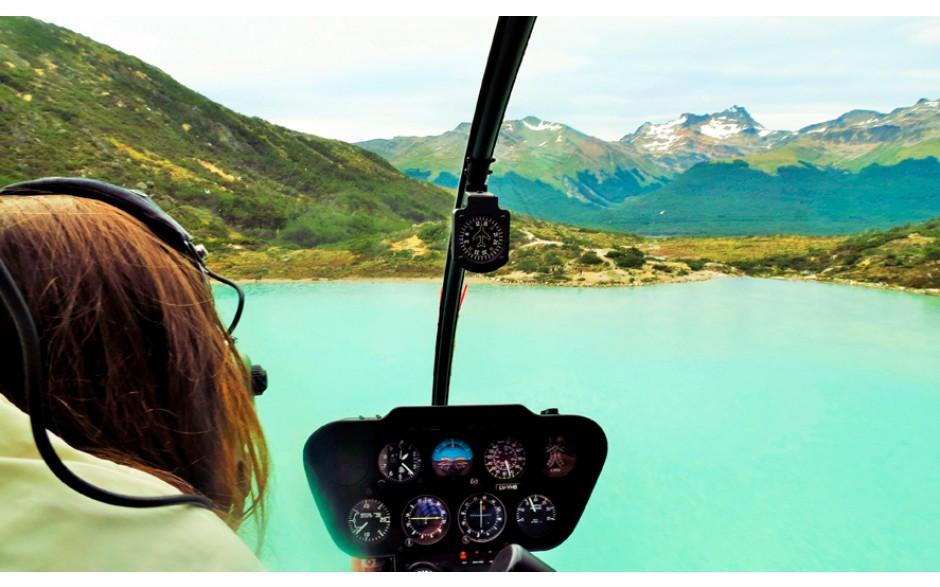 Sobrevuelo de Helicóptero por la Laguna Esmeralda - Ushuaia