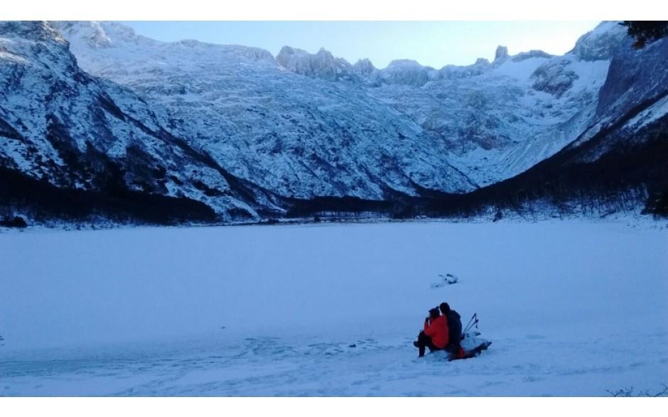 Invierno -Trekking Laguna Esmeralda.