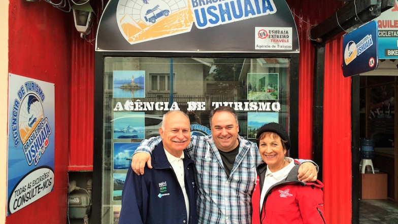 Família Schurmann em ushuaia