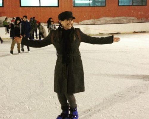 Escritora, Alana Trauczynski, se diverte no Mega Tour Inverno