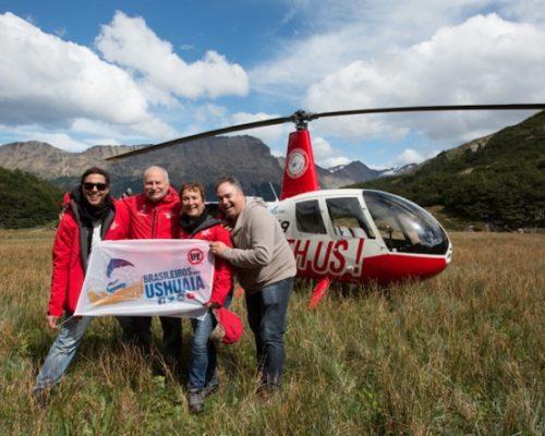 Família Schurmann conhece os Brasileiros em Ushuaia