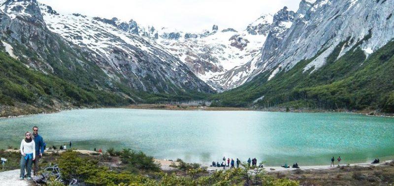 Laguna Esmeralda em Ushuaia no verão