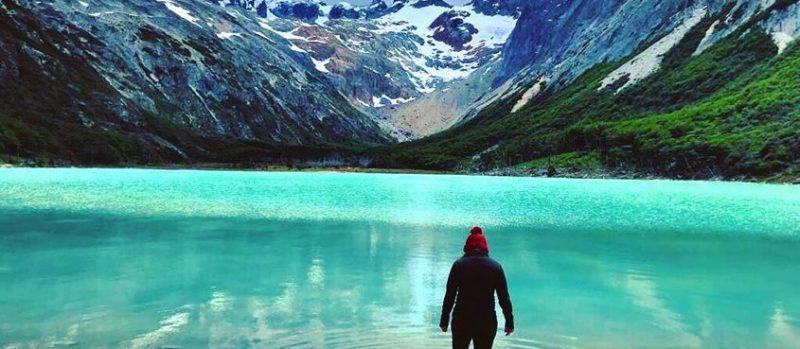 laguna esmeralda ushuaia no verão