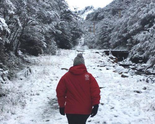Quando tem neve em Ushuaia?