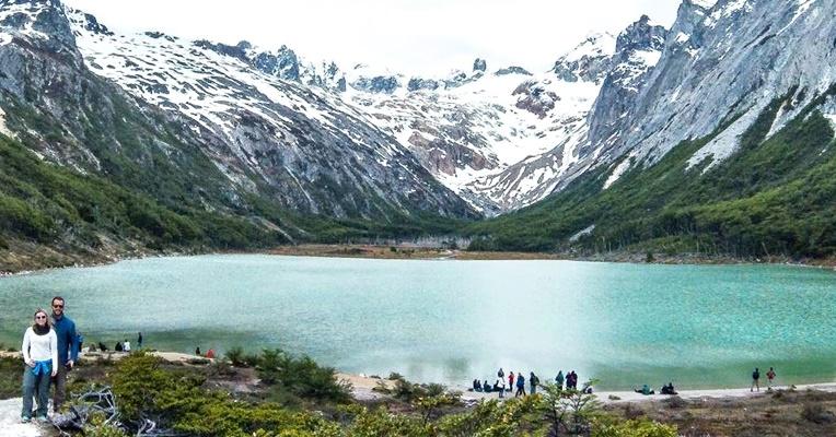ushuaia - Laguna Esmeralda no verão