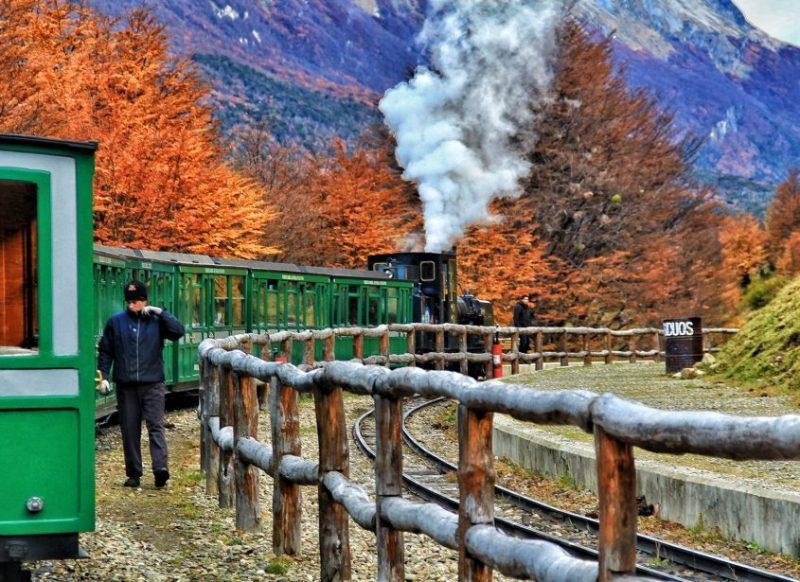 Ushuaia no outono. Parque Nacional Tierra del Fuego.