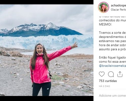 Paula Medina do Blog Achados pelo Mundo conhece Ushuaia!