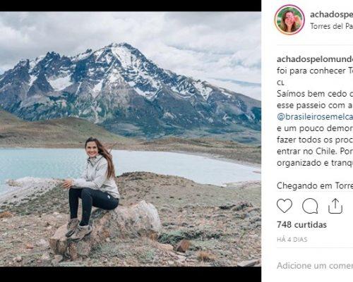 Paula Medina em Ushuaia