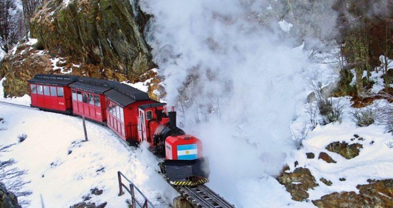 Passeio de Maria Fumaça Inverno em Ushuaia