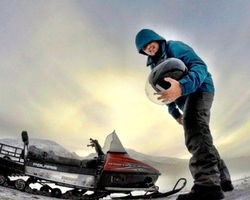 passeio de moto na neve no inverno em Ushuaia