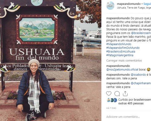 Ushuaia e Elcalafate - Tharsila Fernanda Mapeandomundo 2